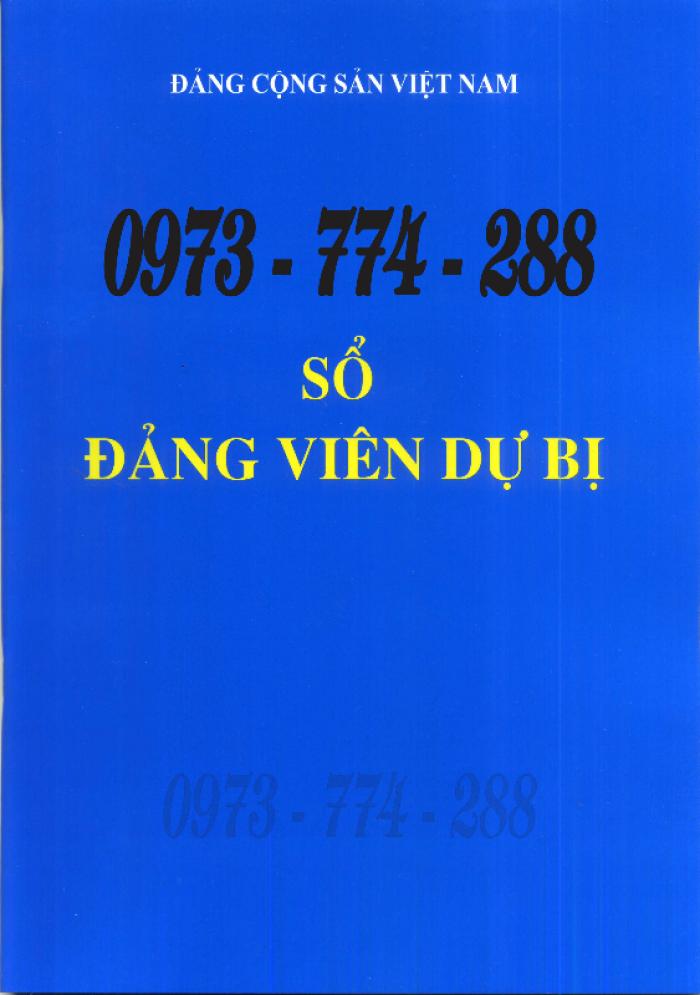 Bán lý lịch của người  xin vào đảng gồm có quyển bìa trắng, bìa xanh, bìa màu búa liềm26