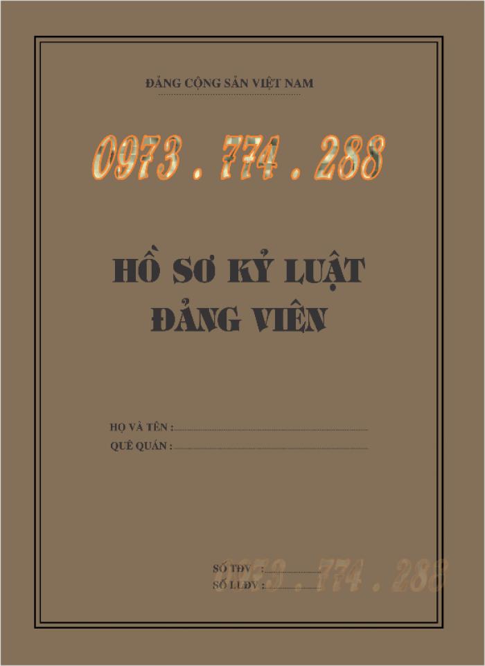 Lý lịch của người xin vào Đảng ''Bìa xanh''15
