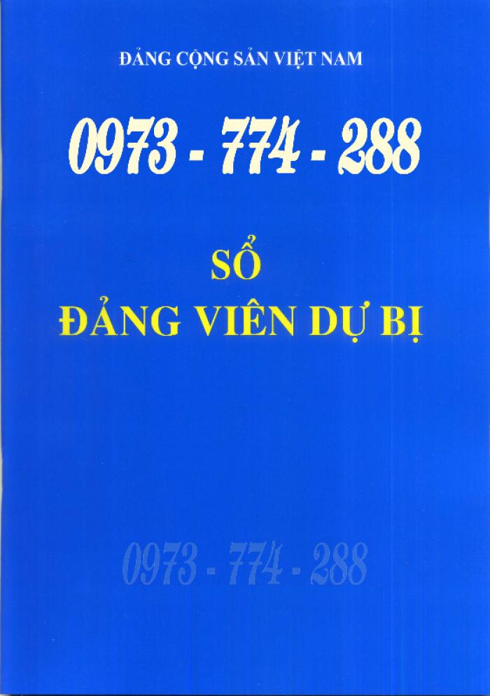 Lý lịch của người xin vào Đảng ''Bìa xanh''24