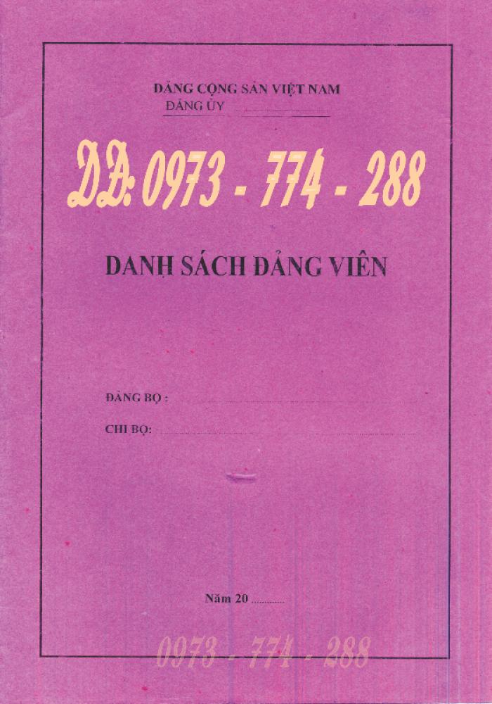 Lý lịch của người xin vào Đảng ''Bìa xanh''28