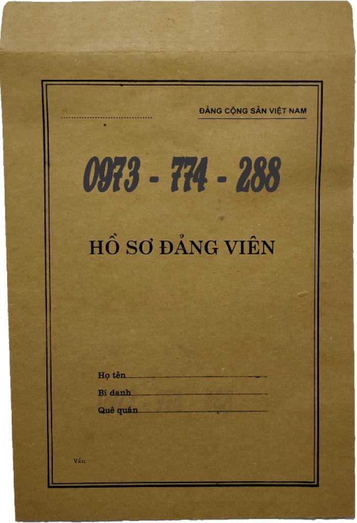 Lý lịch Đảng viên mẫu 1 - HSĐV quyển bìa màu xanh13