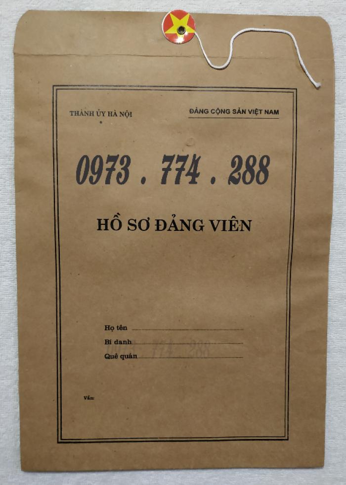 Lý lịch Đảng viên mẫu 1 - HSĐV quyển bìa màu xanh14