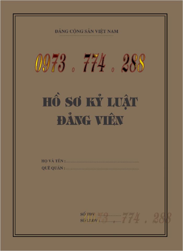 Lý lịch Đảng viên mẫu 1 - HSĐV quyển bìa màu xanh17