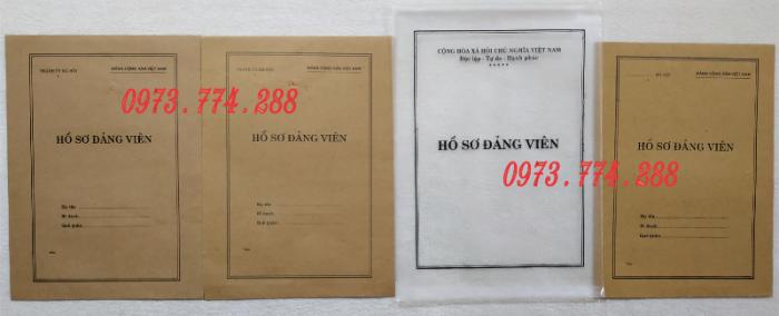 Lý lịch Đảng viên mẫu 1 - HSĐV quyển bìa màu xanh18