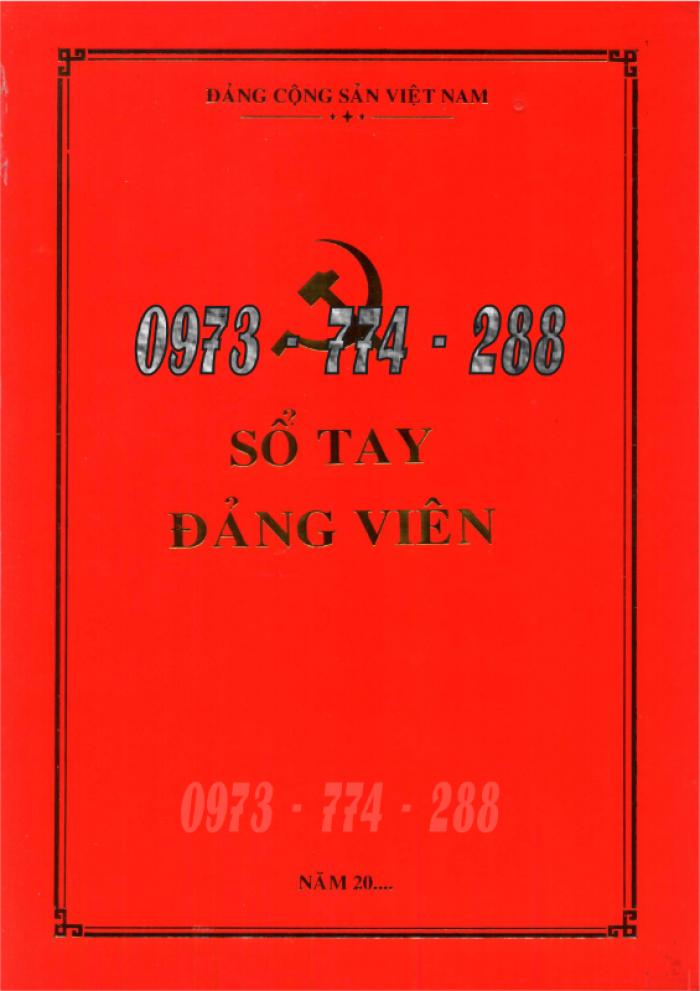 Lý lịch Đảng viên mẫu 1 - HSĐV quyển bìa màu xanh21