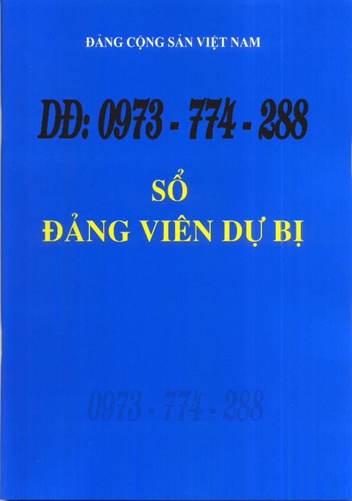 Lý lịch Đảng viên mẫu 1 - HSĐV quyển bìa màu xanh26
