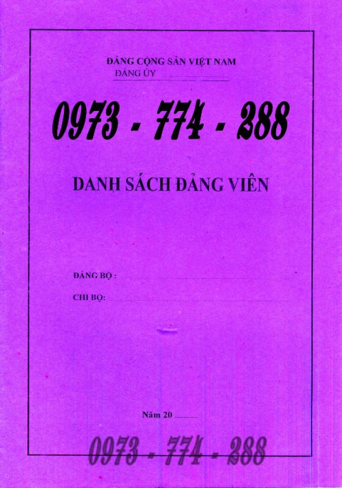 Lý lịch Đảng viên mẫu 1 - HSĐV quyển bìa màu xanh29