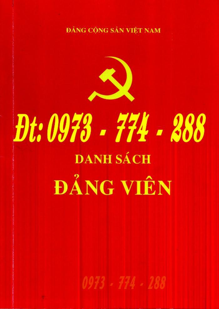 Lý lịch Đảng viên mẫu 1 - HSĐV quyển bìa màu xanh30