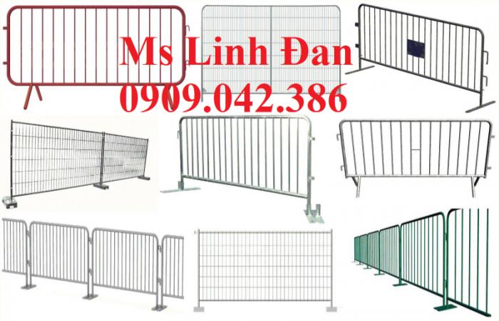 Lưới thép hàng rào di động chắn đám đông, lưới thép hàng rào di động3