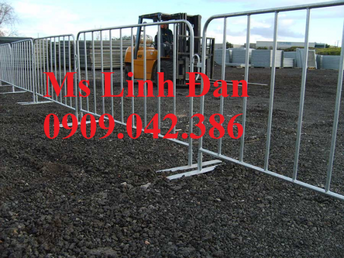 Lưới thép hàng rào di động chắn đám đông, lưới thép hàng rào di động8
