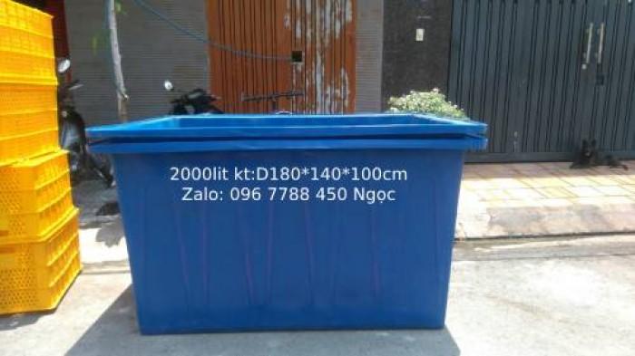 Thùng nhựa nuôi cá 2000 lít Lhe 0967788450 Ngọc0