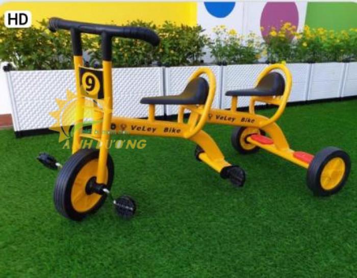 Xe đạp 3 bánh cho trẻ em mầm non tập đi giá cực SỐC0