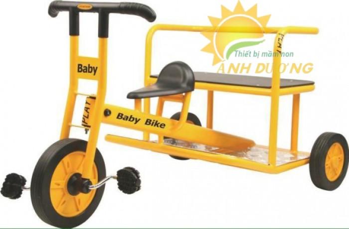 Xe đạp 3 bánh cho trẻ em mầm non tập đi giá cực SỐC2