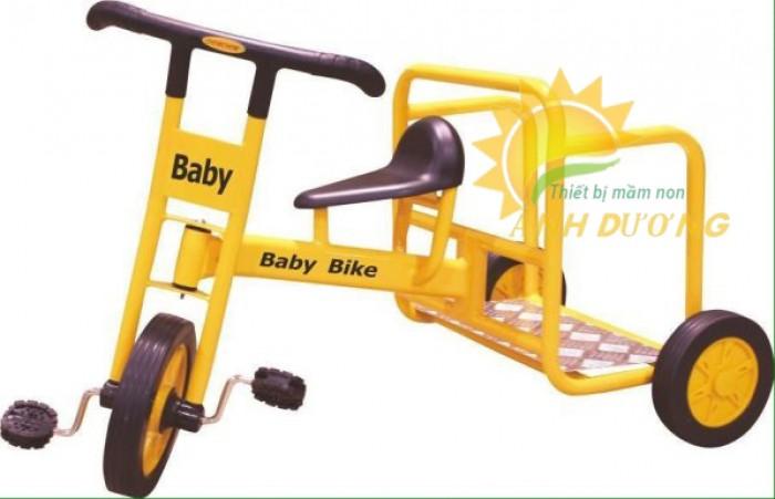 Xe đạp 3 bánh cho trẻ em mầm non tập đi giá cực SỐC1
