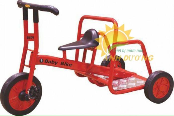 Xe đạp 3 bánh cho trẻ em mầm non tập đi giá cực SỐC4
