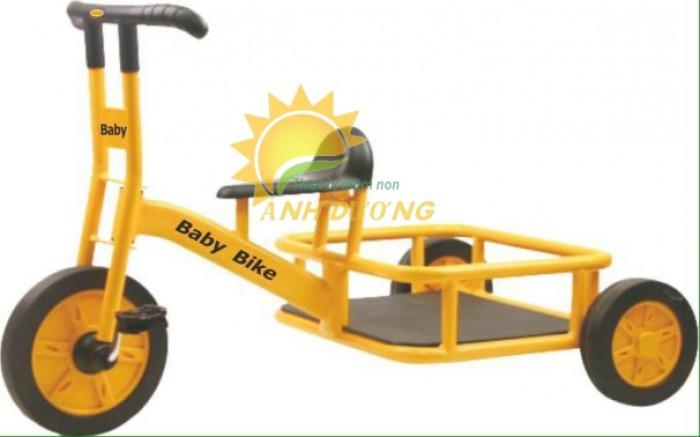 Xe đạp 3 bánh cho trẻ em mầm non tập đi giá cực SỐC9