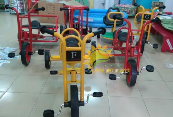 Xe đạp 3 bánh cho trẻ em mầm non tập đi giá cực SỐC5