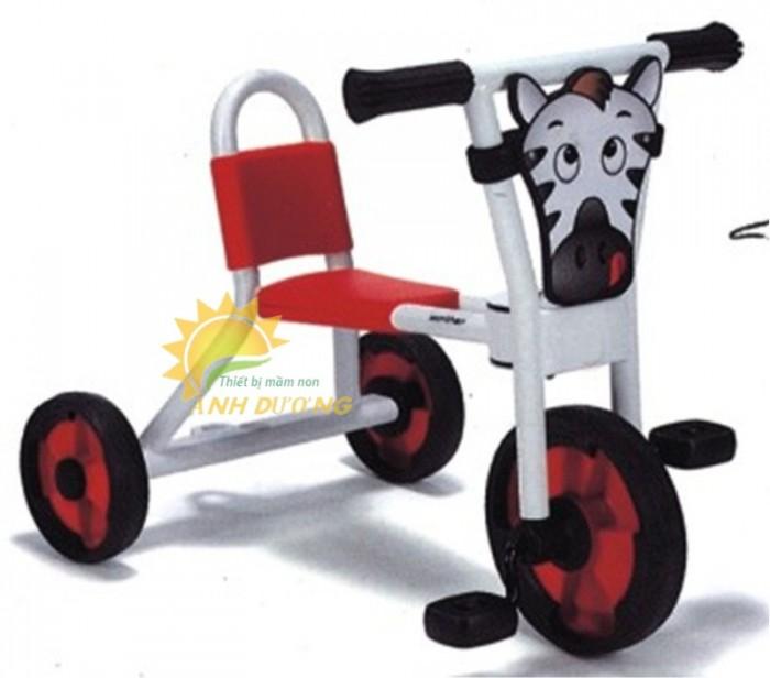 Xe đạp 3 bánh cho trẻ em mầm non tập đi giá cực SỐC7