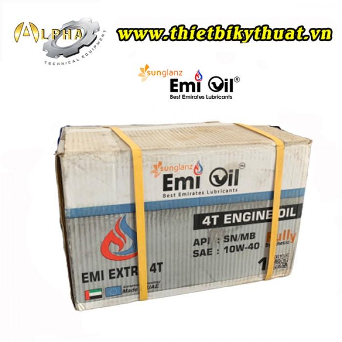 Thùng 12 chai nhớt (1L) EMI EXTRA 4T (DẦU ĐỘNG CƠ XE TAY GA)1