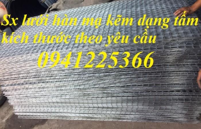 Lưới thép hàn mạ kẽm phi 3 ,phi 3,5 ,phi 4 dạng tấm kích thước theo yêu cầu.0