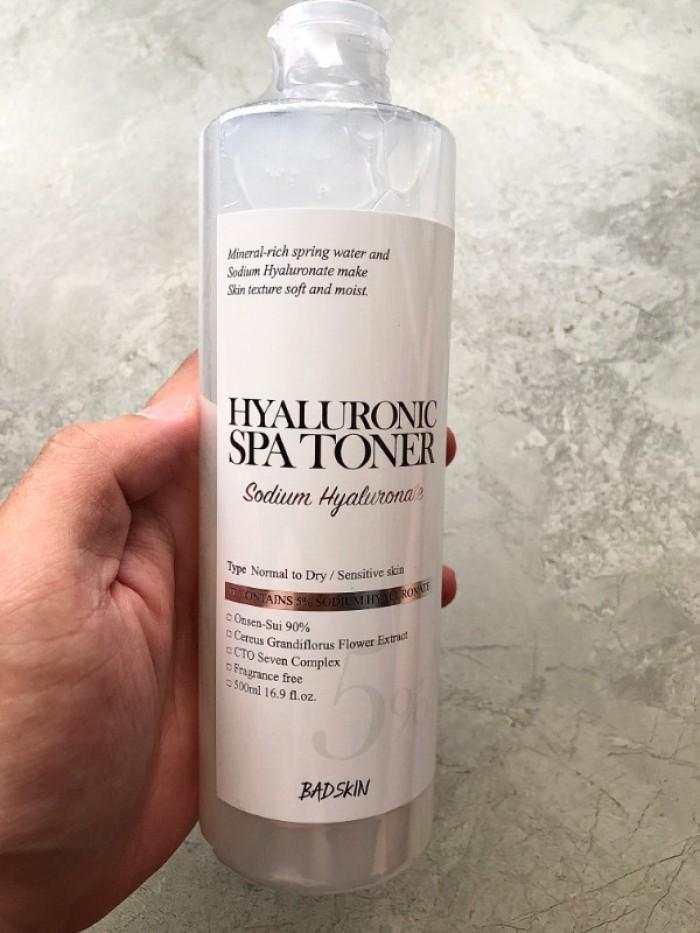 Nước cân bằng da Hyaluronic Spa Toner chuyên dùng cho SPA xách tay Hàn Quốc1
