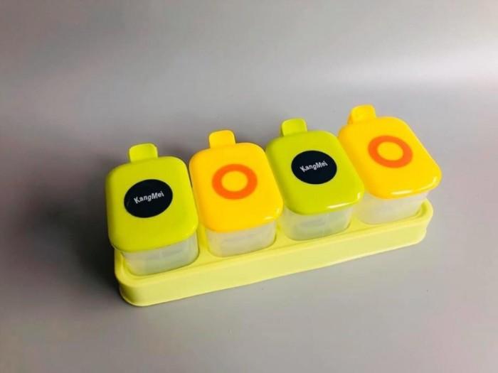 Bộ gia vị 4 hộp nhựa kèm khay vs muỗng: 80k/bộ18