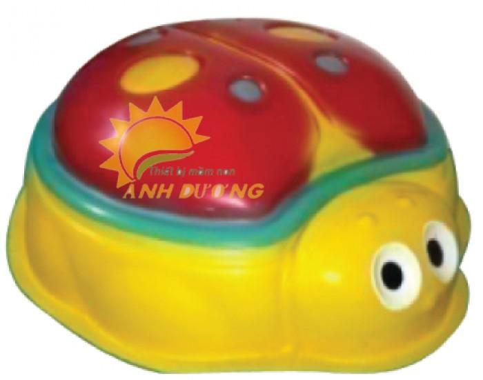Đồ chơi bồn nghịch cát - nước hình con vật đáng yêu cho bé mầm non1
