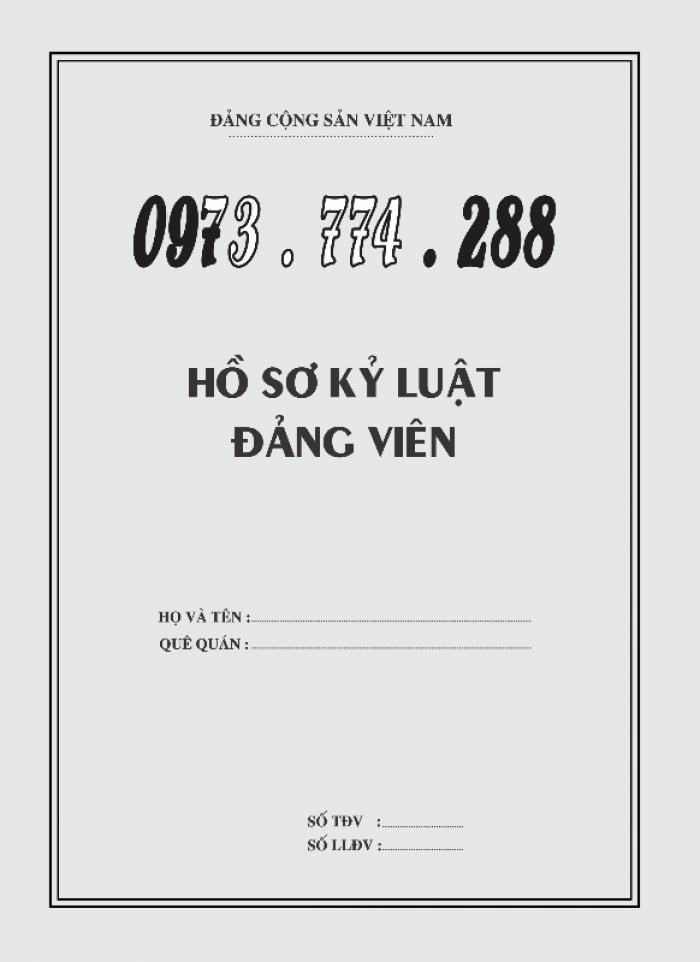 Lý lịch của người xin vào đảng19