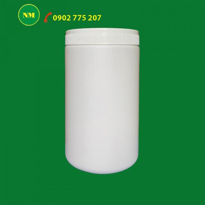 Hủ nhựa đựng bột ngũ cốc, hủ nhựa 1kg đựng phân bón.1