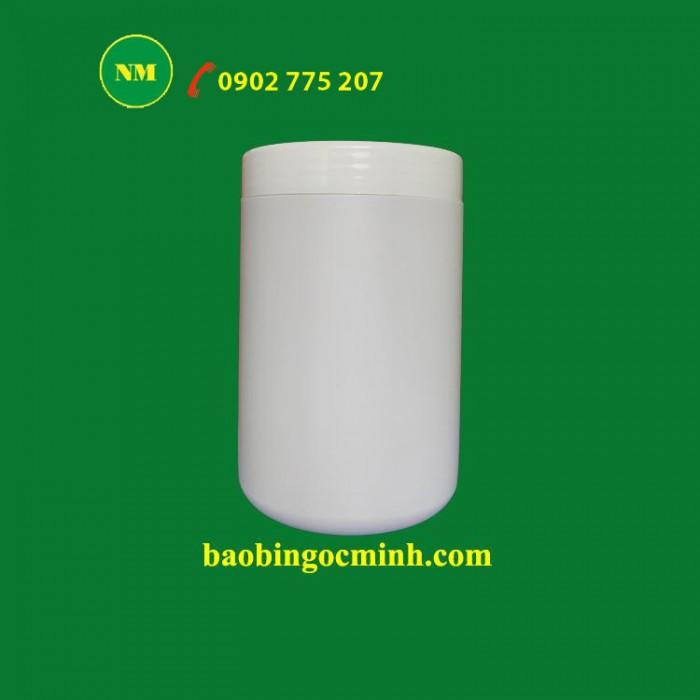 Hủ nhựa đựng bột ngũ cốc, hủ nhựa 1kg đựng phân bón.2