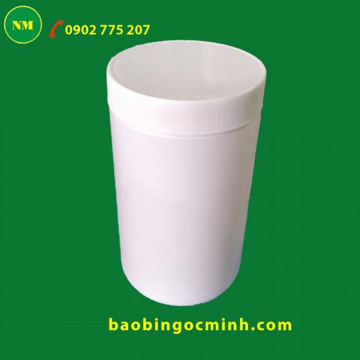 Hủ nhựa đựng bột ngũ cốc, hủ nhựa 1kg đựng phân bón.6