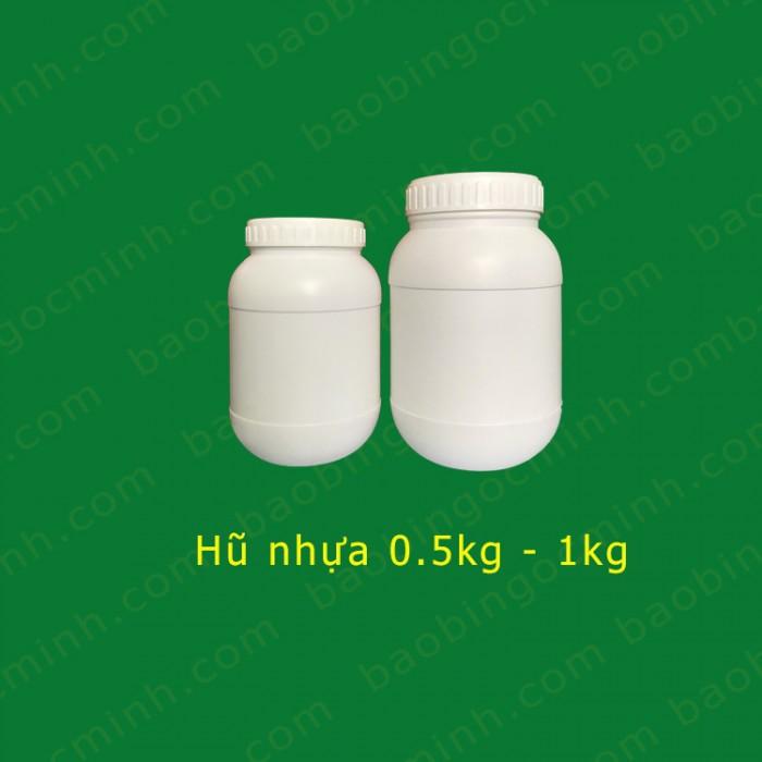 hủ nhựa 1kg đựng bột phân bón. 7