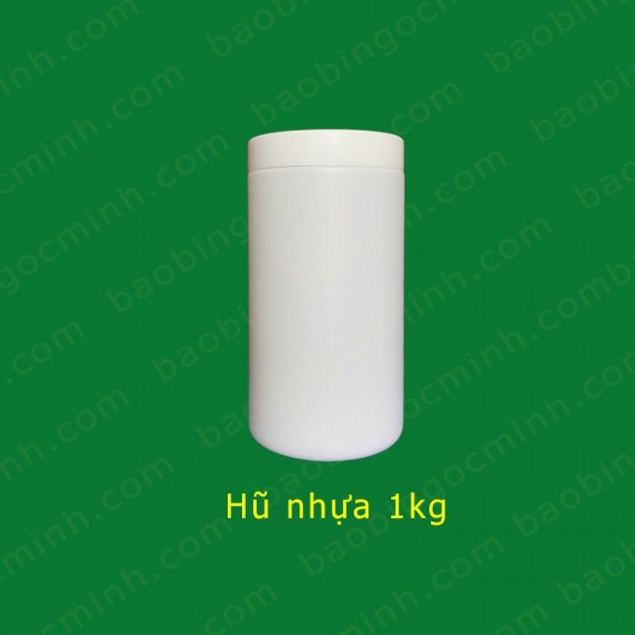 Hủ nhựa đựng bột ngũ cốc, hủ nhựa 1kg đựng phân bón.16