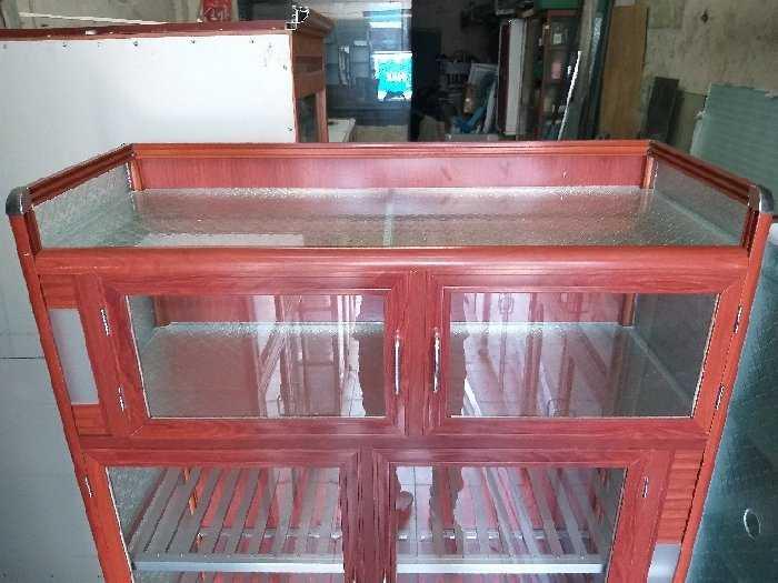 Tủ nhôm kính chén bát loại cao cấp3
