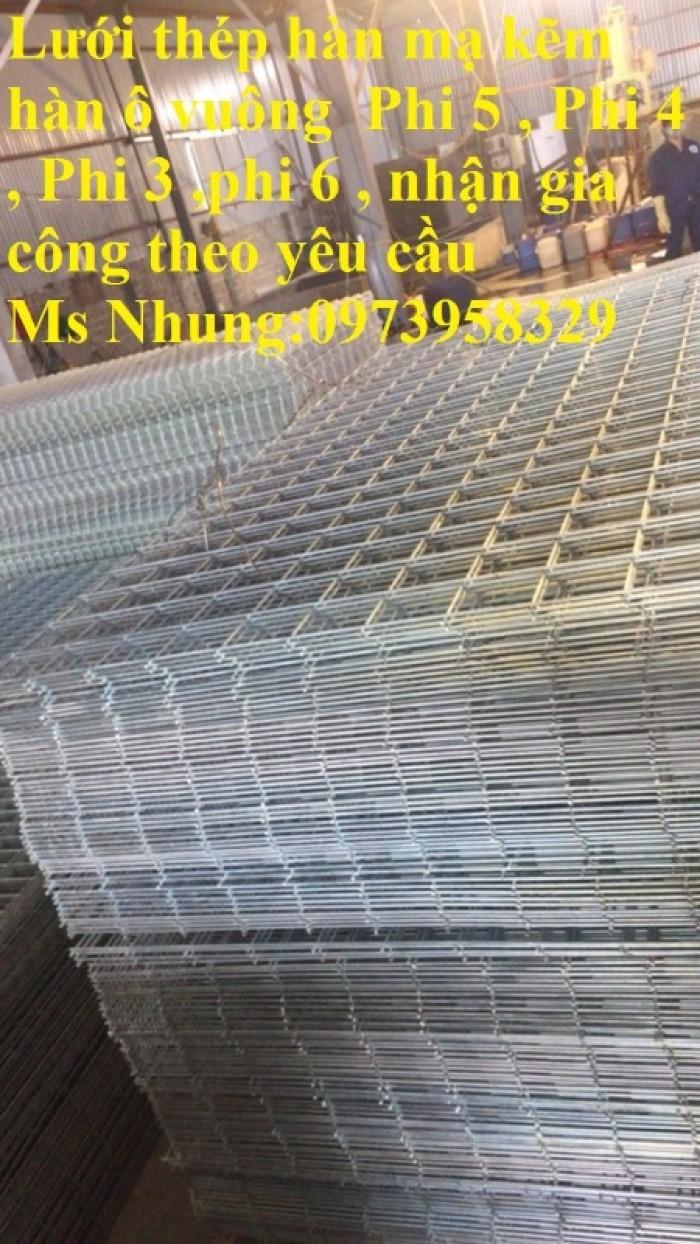 Sản xuất lưới thép hàn chập mạ kẽm Phi 4 ( 50*50),( 100*100),(150*150),( 200*3