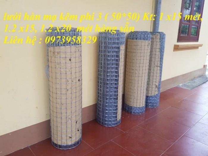 lưới thép hàn mạ kẽm  phi 3 ( 50 *50) Kt 1.2 x20 mét Lh;09739583296