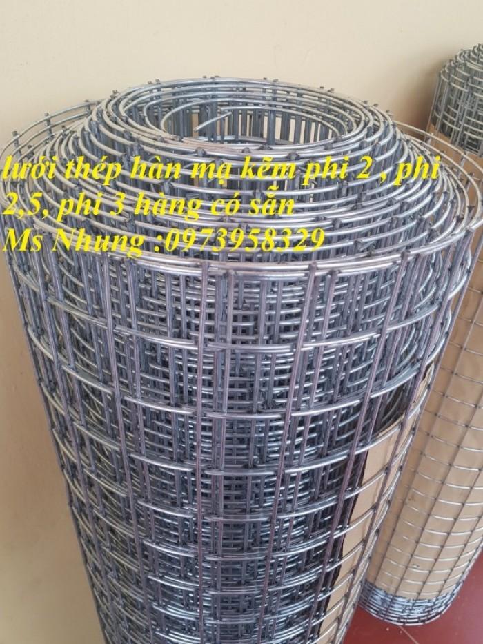 Sản xuất lưới thép hàn chập mạ kẽm Phi 4 ( 50*50),( 100*100),(150*150),( 200*7