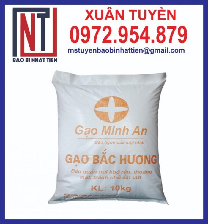 Bao bì đựng gạo in flexo, cung cấp bao PP dệt đựng gạo11