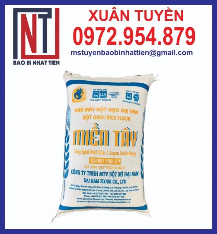 Bao bì đựng gạo in flexo, cung cấp bao PP dệt đựng gạo12