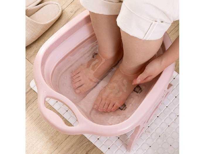 Chậu ngâm massage chân gấp gọn Chất liệu0