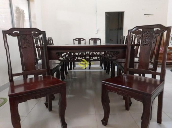 Bộ bàn ăn gỗ cao cấp 10 ghế1
