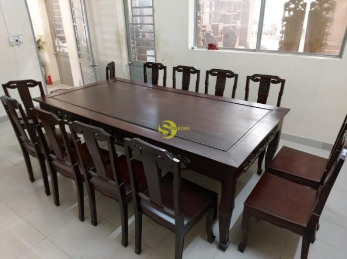 Bộ bàn ăn gỗ cao cấp 10 ghế3