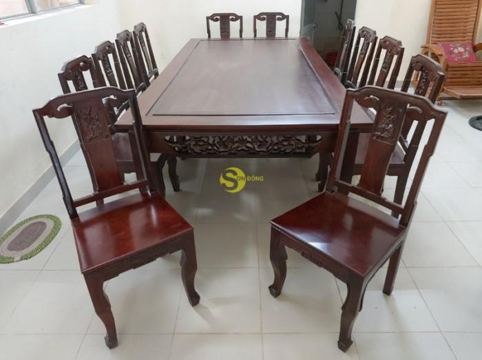 Bộ bàn ăn gỗ cao cấp 10 ghế2