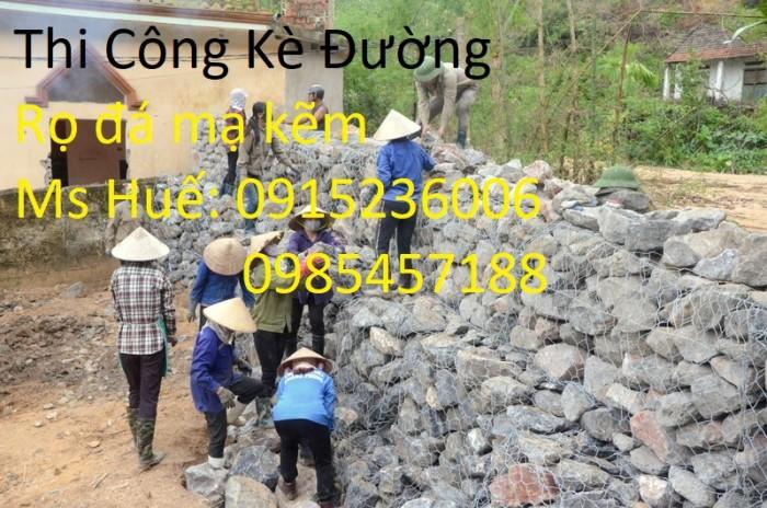 Rọ thép, rọ đá mạ kẽm, rọ đá bọc nhựa PVC khổ 2x1x0,3, 2x1x1,5, 1x1x1 làm theo yêu cầu
