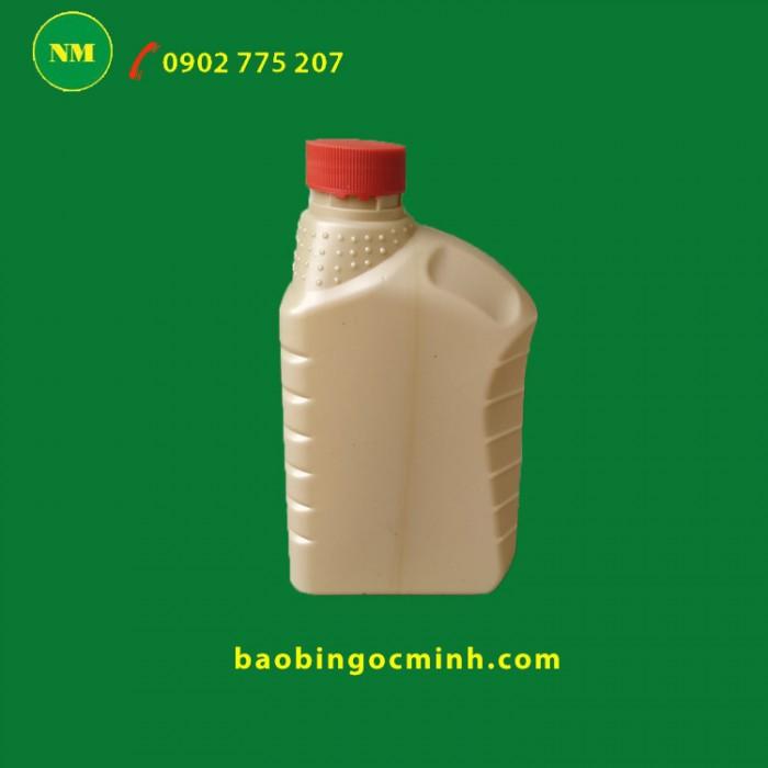 Chai nhựa 1 lít , chai nhựa hdpe, chai nhựa 1 lít đựng thuốc bảo vệ thực vật.6