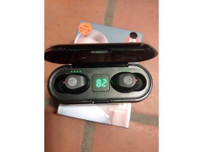 Tai nghe true wireless AMOI F9 | bản QUỐC TẾ | nút cảm ứng| Bluetooth 5.0| Pin 280 giờ| sạc dự phòng 20192