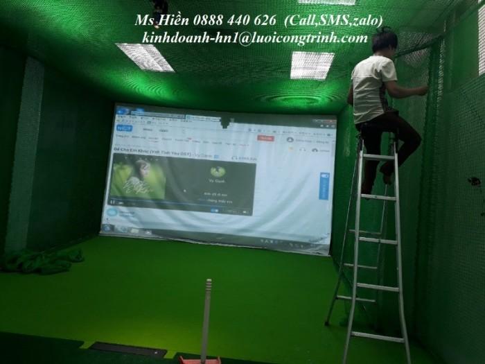 Phòng golf 3D lưới 1 màn hình2