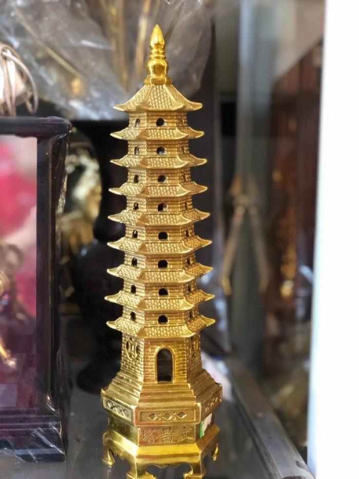 Tháp Văn xương cao 30cm bằng đồng nguyên chất0