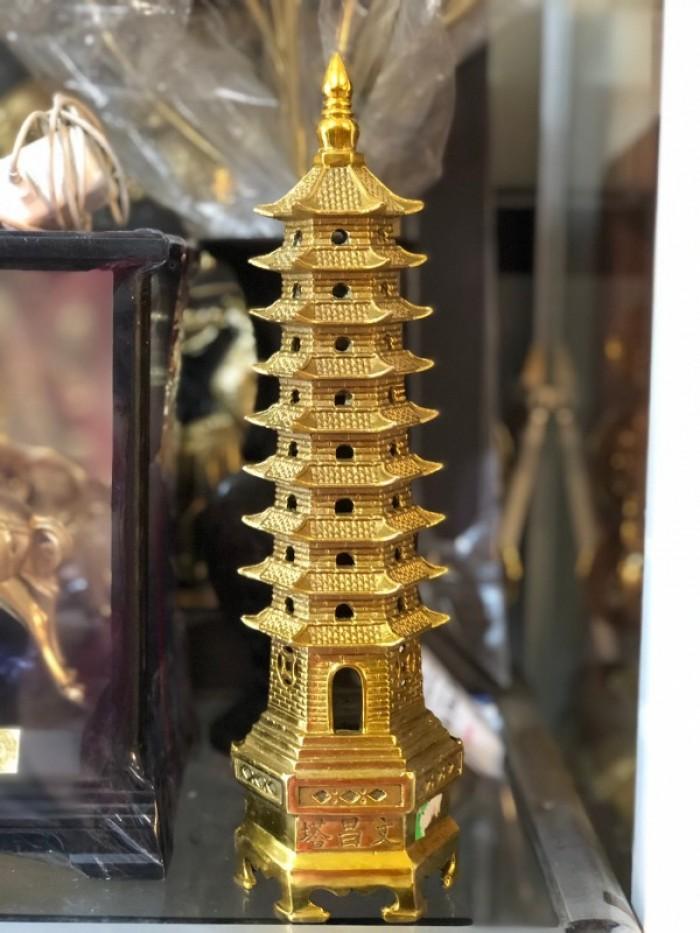 Tháp Văn xương cao 30cm bằng đồng nguyên chất2