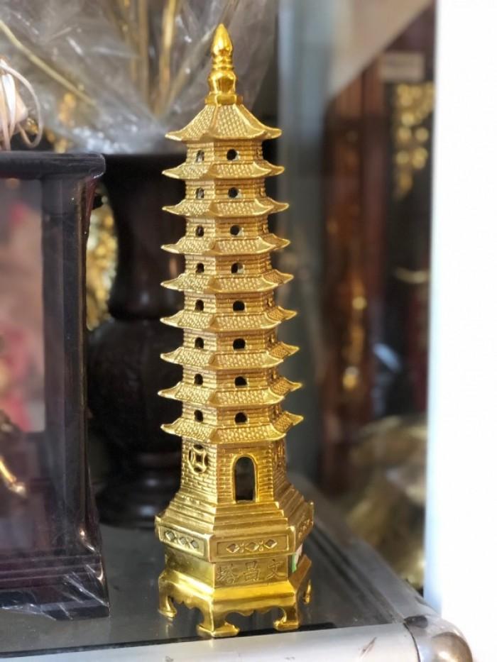 Tháp Văn xương cao 30cm bằng đồng nguyên chất1